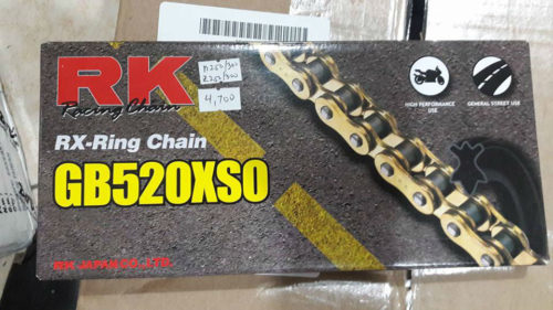 RK Racing X-Ring Chain Gold GB520XSO/110