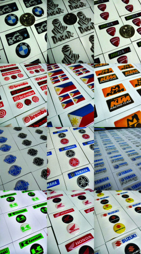 """""""Dome"""" (resin-coated) stickers"""