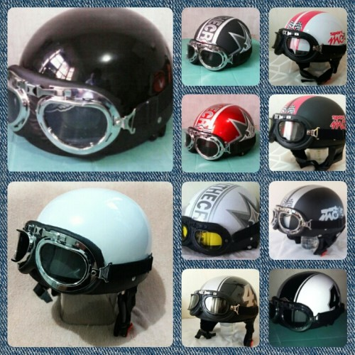 H&K Retro Helmet with Goggles and Visor