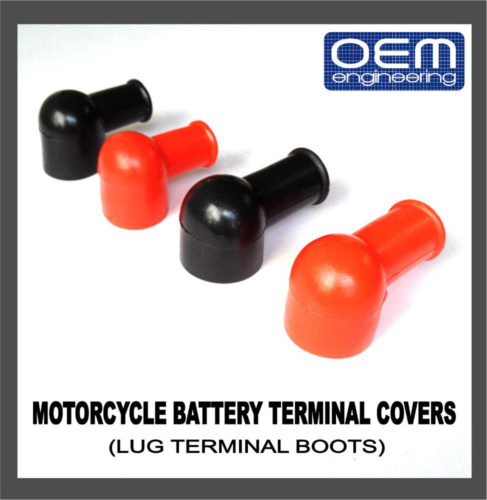 OEM Engineering Motorcycle Battery Terminal Covers (Lug Terminal Boots)
